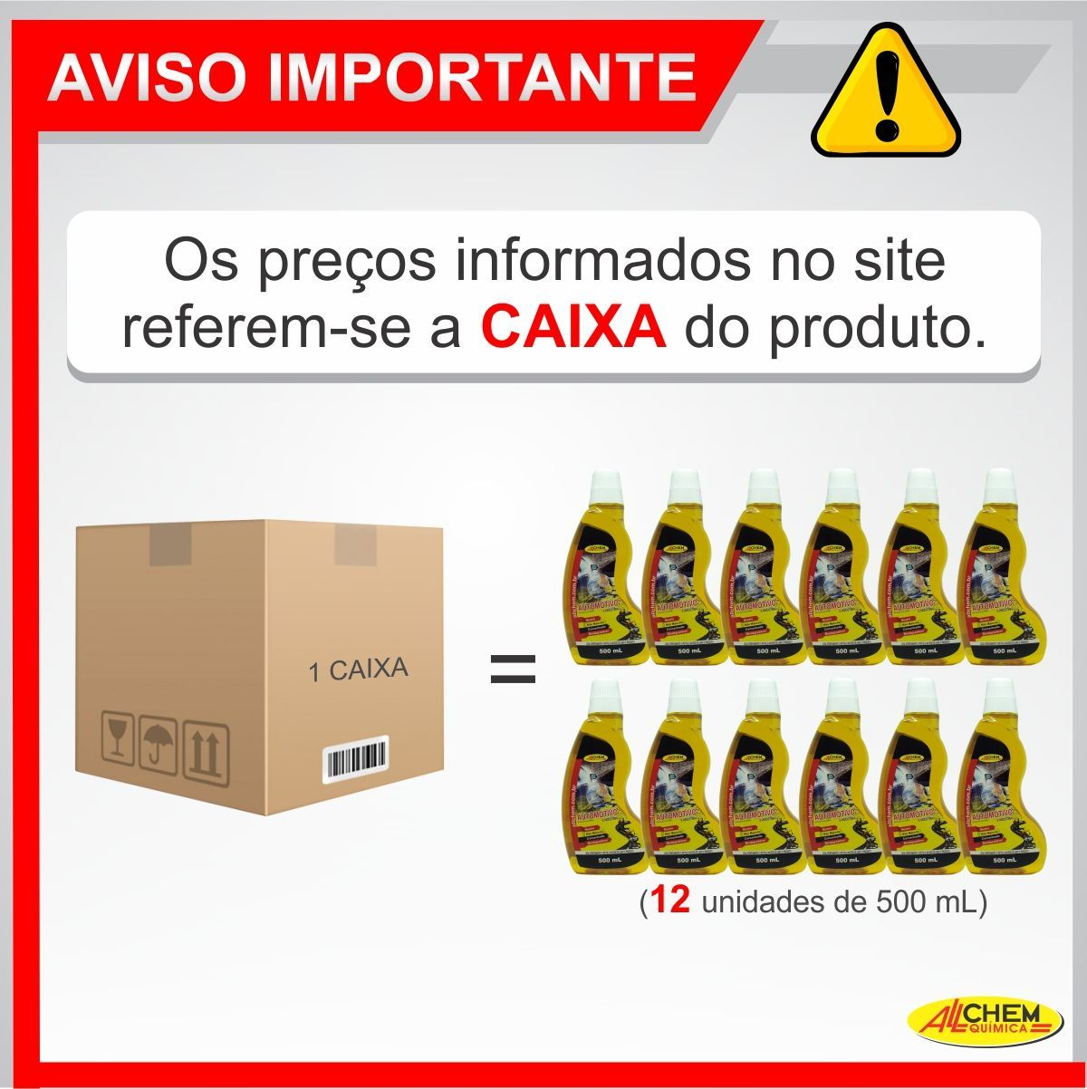 Detergente Automotivo e Industrial 12x500 mL