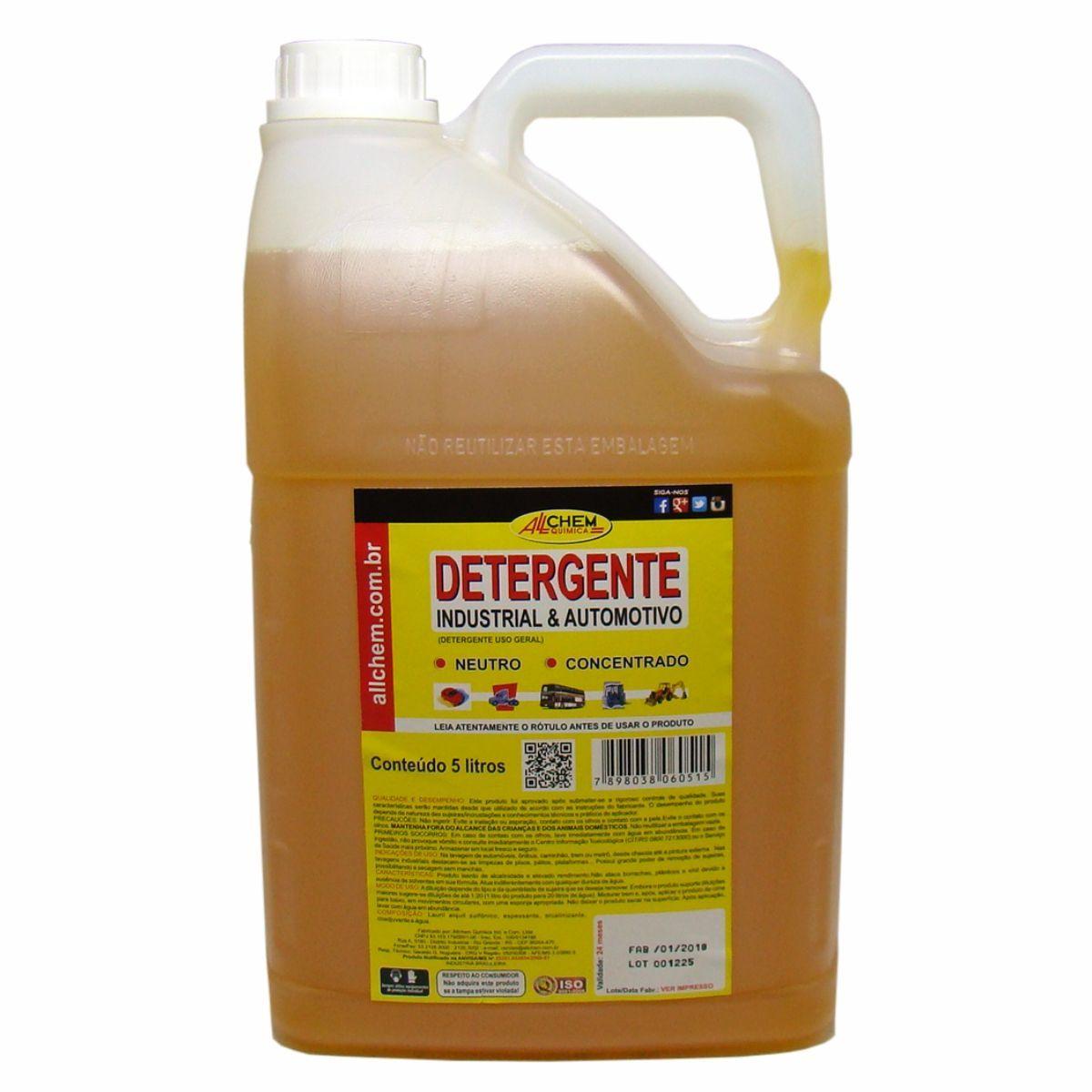 Detergente Automotivo e Industrial 2x5 Litros