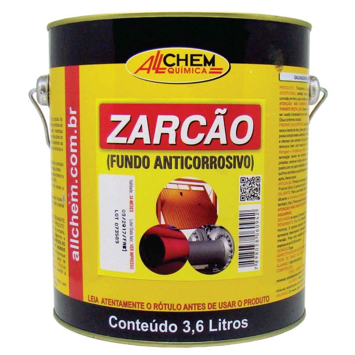 Fundo Anticorrosivo Zarcão 2x3,6 Litros