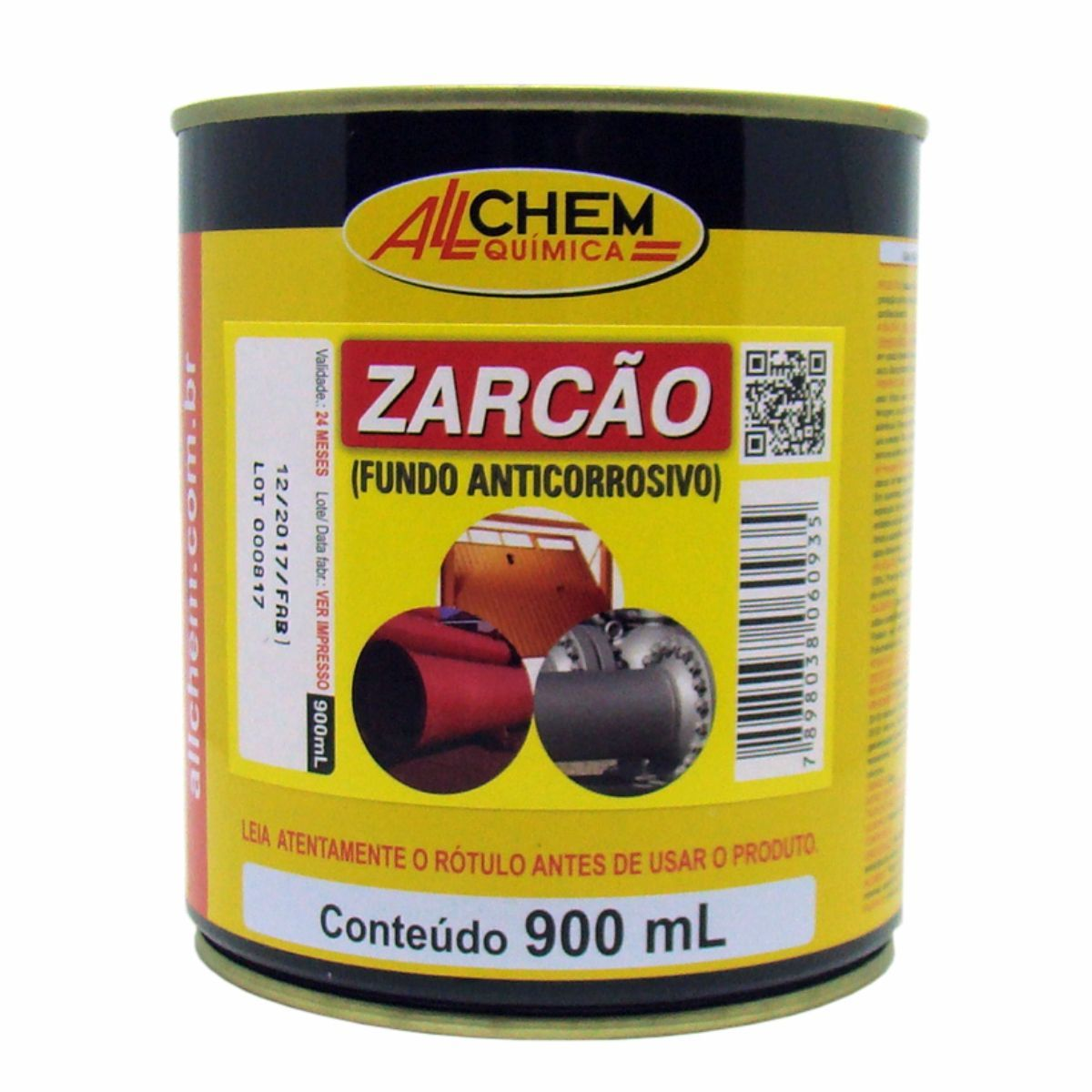Fundo Anticorrosivo Zarcão 4x900 mL