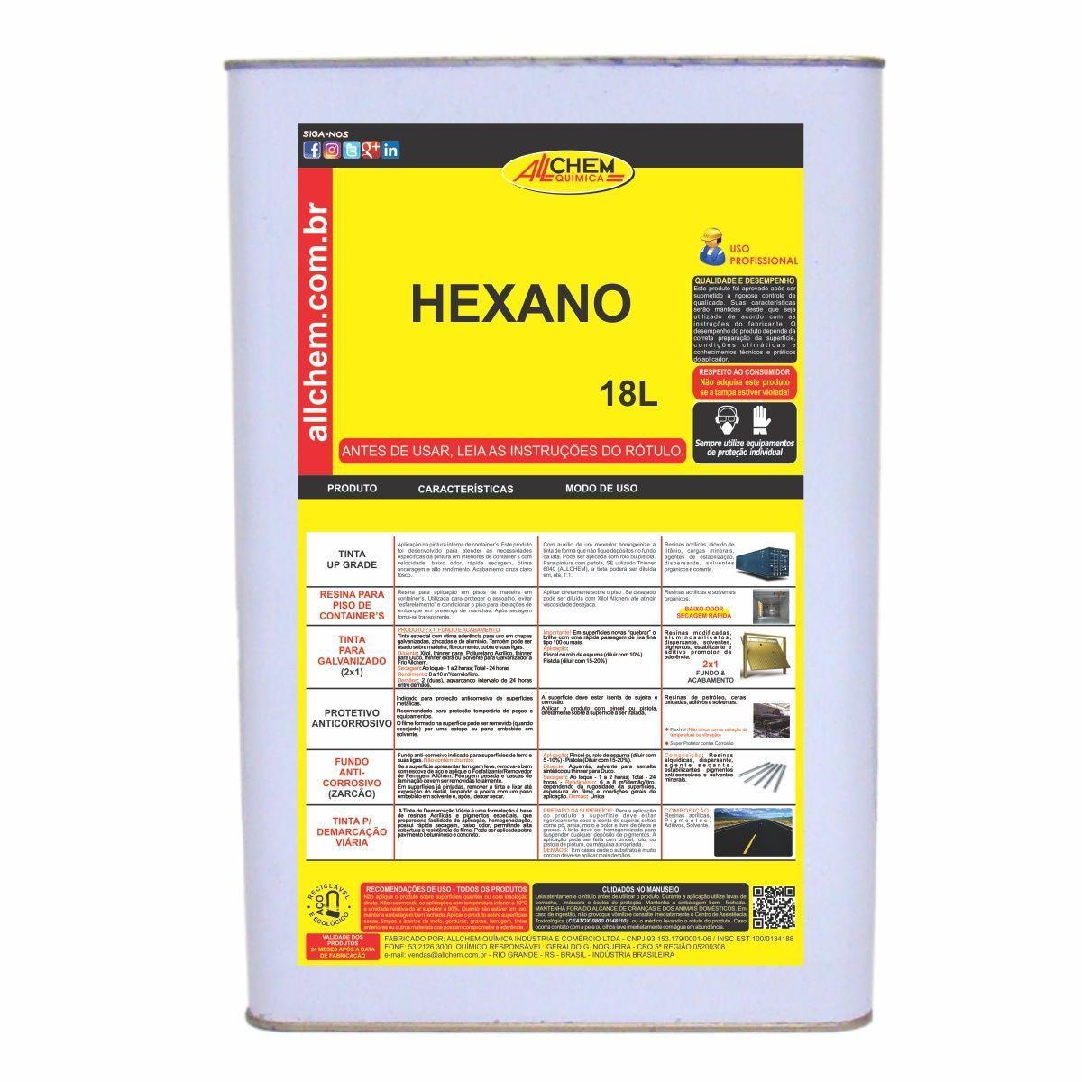 Hexano 18 Litros