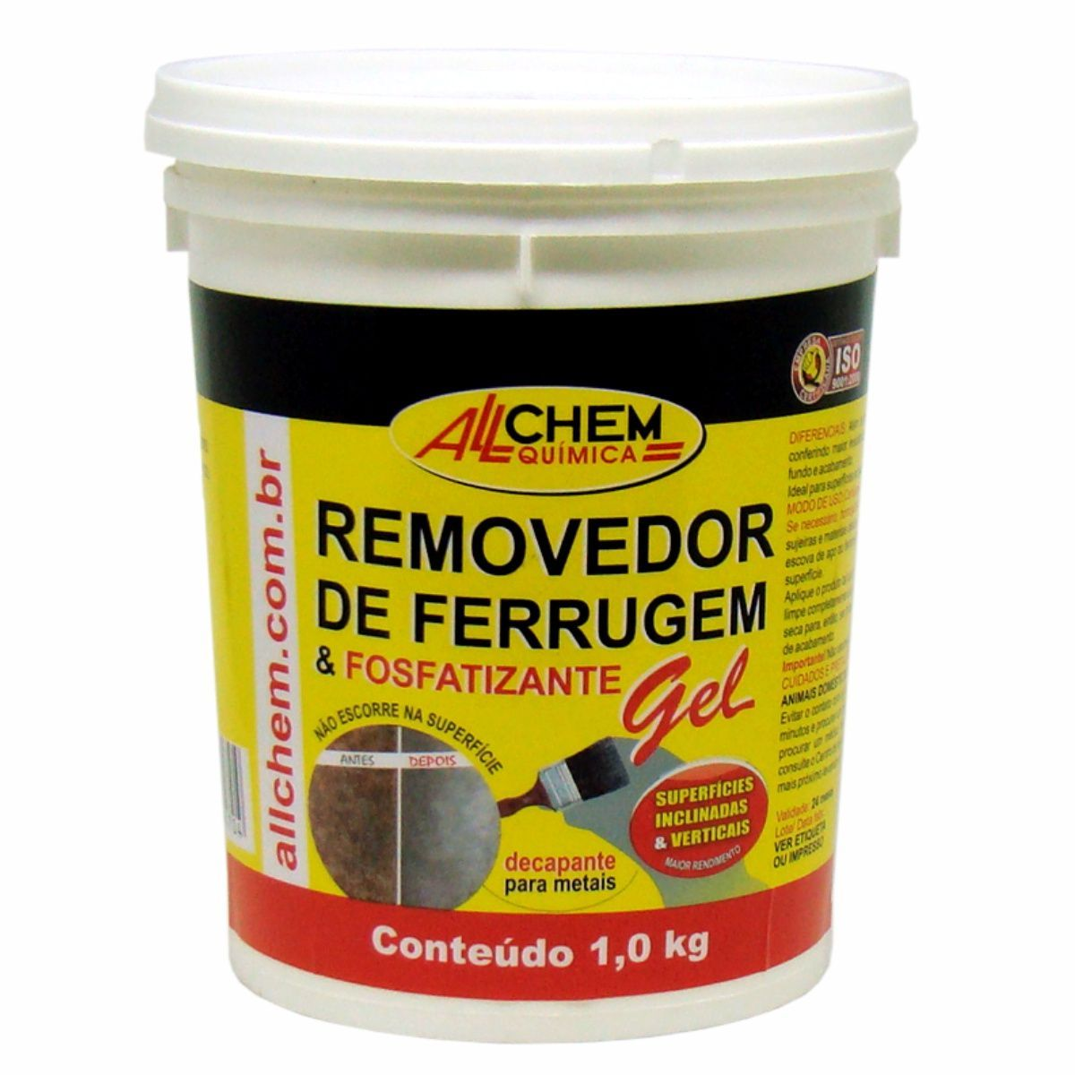 Removedor de Ferrugem e Fosfatizante GEL 4x1,0 Kg