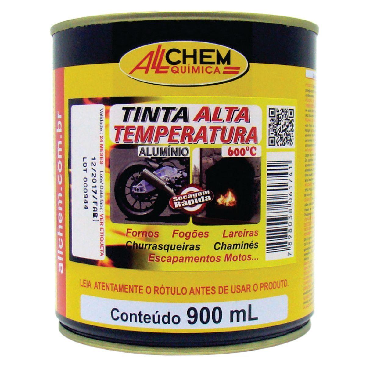 Tinta Alta Temperatura Alumínio 4x900 mL