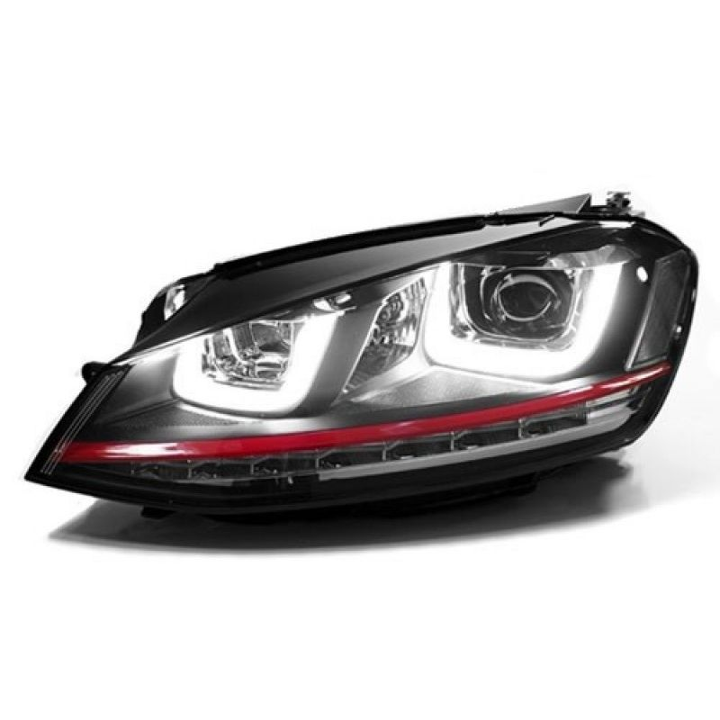 Farol Projector Drl Led Vw Golf GTI MK7 13/16 Black + Xenon