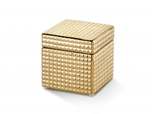 Porta Joia Dourado 13X13X13Cm