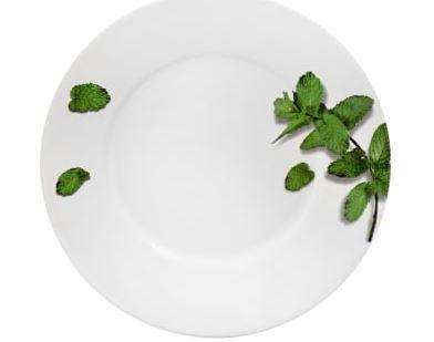 Prato Sobremesa Flat Ervas