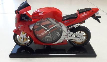 Relógio de Moto Vermelha