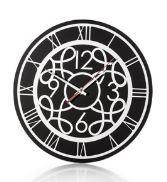 Relógio Decorativo Fundo Preto 30Cm