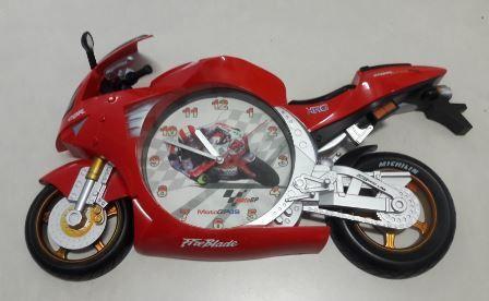 Relogio Parede 43X22X6Cm Motocicleta Plastico