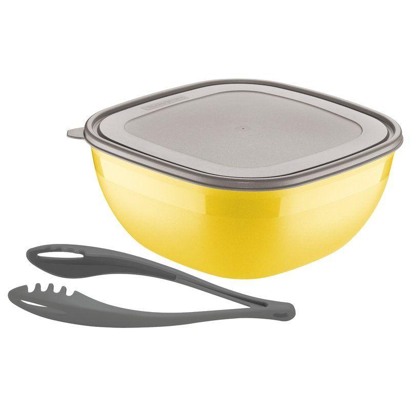 Saladeira Amarela 4,0 Litros 2 Peças Mixcolor Tramontina