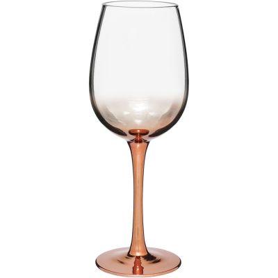 Conjunto Taça Vinho Vidro 420Ml Cobre Metalizado