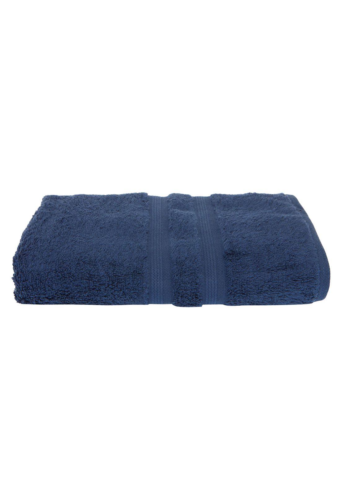 Toalha de Banho Algodão Egipcio cor. Azul Petróleo