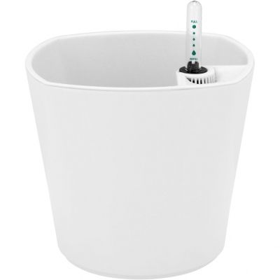 Vaso Plástico Autoirrig. 16 cm Marfim
