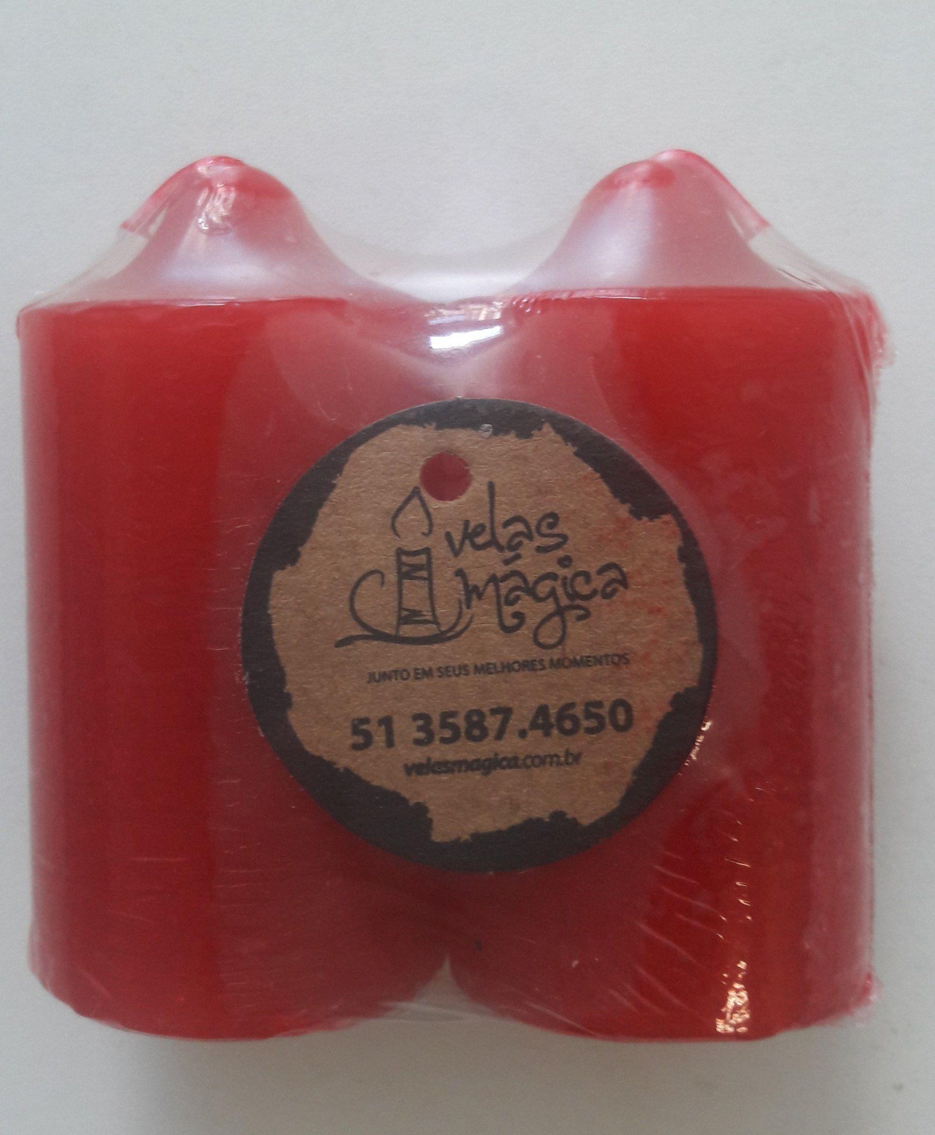 Velas Richo c/ 2 Toco Pequena Vermelho