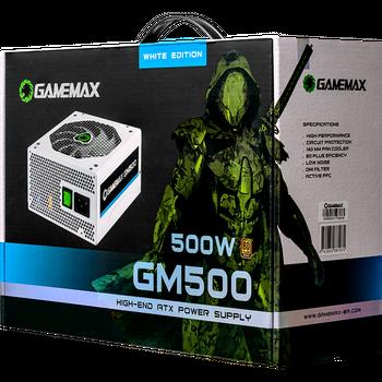 FONTE GAMER 500W 80 PLUS BRONZE GAMEMAX GM500W