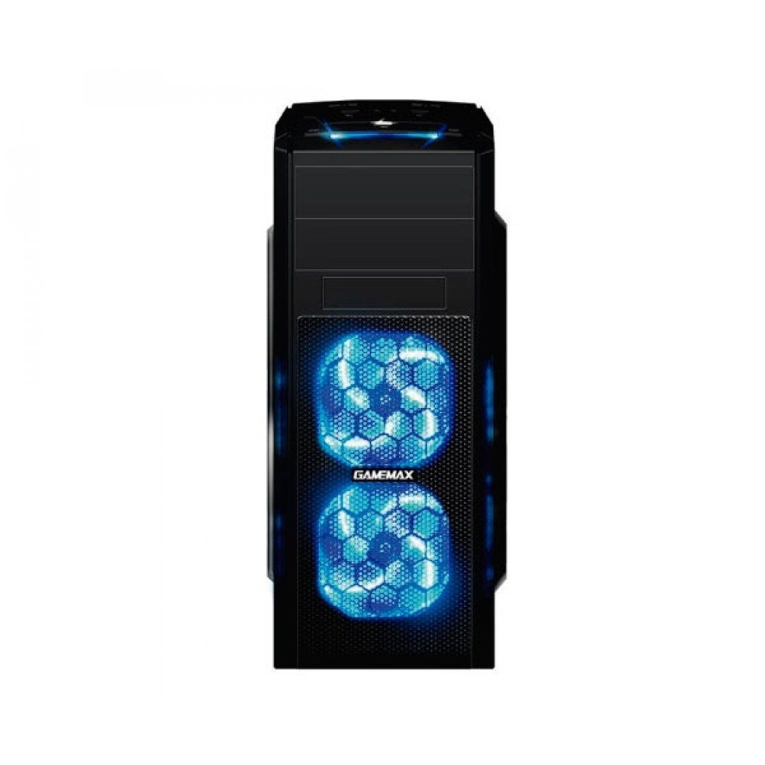 GABINETE GAMEMAX PRETO C/ LED AZUL, G529