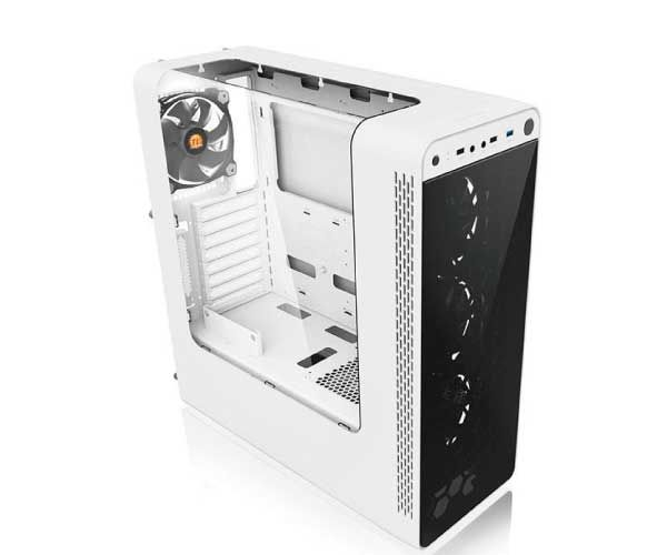 GABINETE THERMALTAKE VIEW 27 BRANCO RIING 12 LED BRANCO, CA-1G7-00M6WN-WT