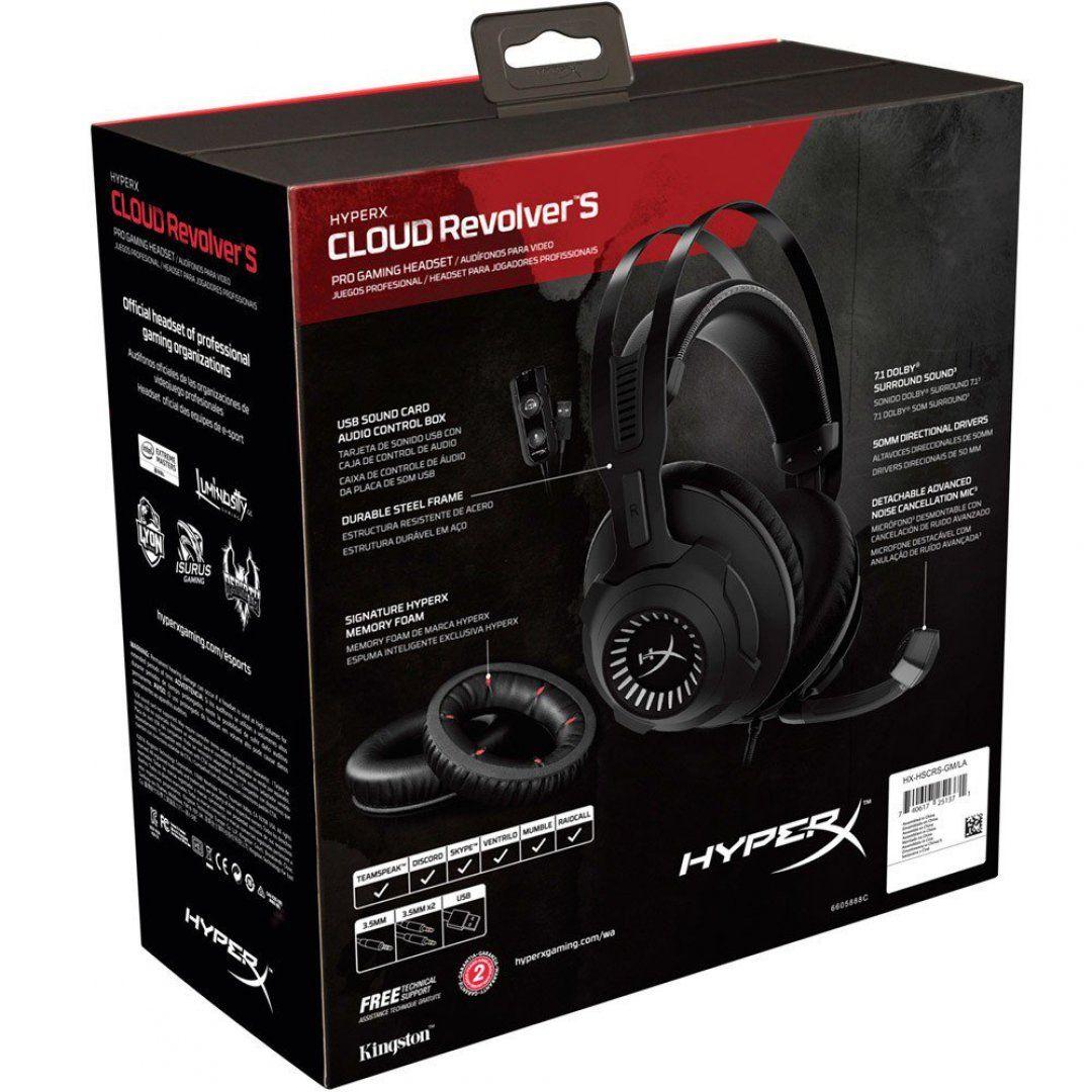 Headset Gamer HyperX Revolver S 7.1 Dolby Digital HX-HSCRS-GM/LA