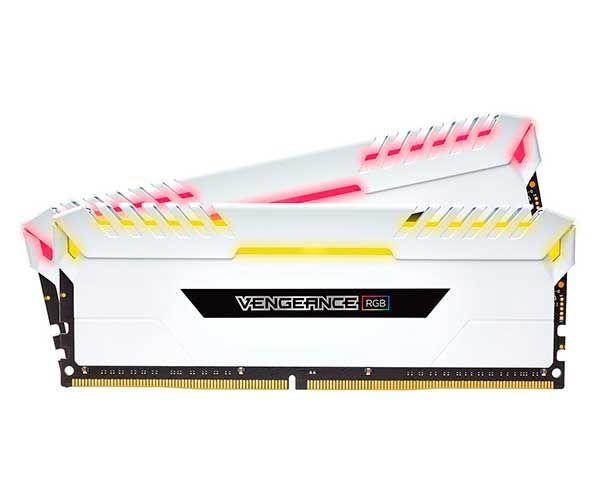 MEMÓRIA CORSAIR VENGEANCE BRANCA RGB (2X8GB) 3000MHZ DDR4, CMR16GX4M2C3000C15W