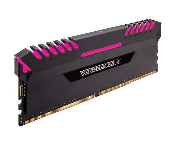 MEMÓRIA CORSAIR VENGEANCE PRETA RGB (2X8GB) 3000MHZ DDR4, CMR16GX4M2D3000C16