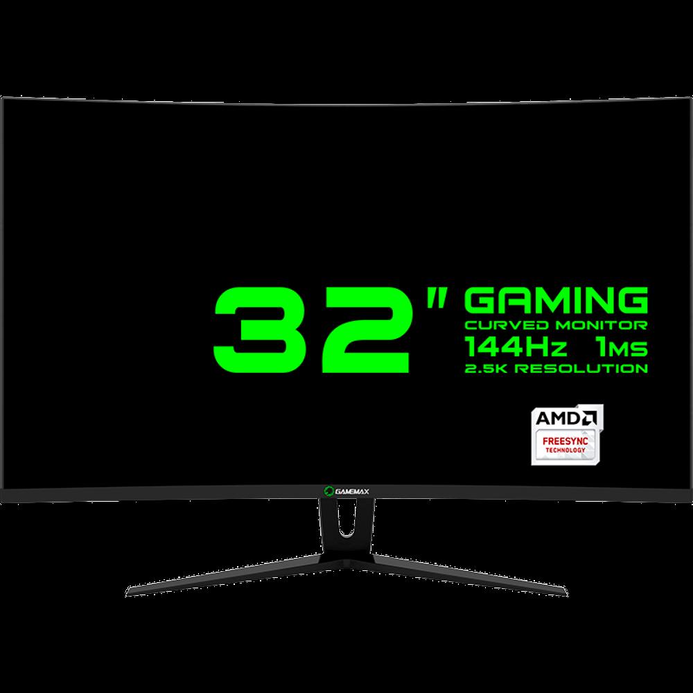 "MONITOR GAMER 32"" CURVO, 2.5K (2560 x 1440), 144Hz 1MS PRETO GAMEMAX GMX32CEWQ"