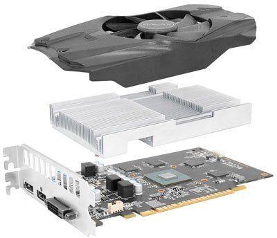 Placa de vídeo Geforce GTX 1050 2GB Galax OC GDDR5 - 50NPH8DSN80C