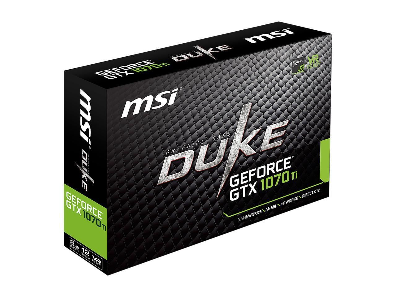 PLACA DE VÍDEO MSI GEFORCE GTX 1070 TI DUKE 8GB GDDR5