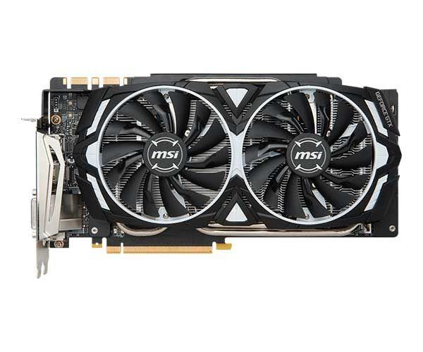 PLACA DE VÍDEO MSI GEFORCE GTX 1080 TI ARMOR OC 11GB GDDR5X 352BIT, 912-V360-010