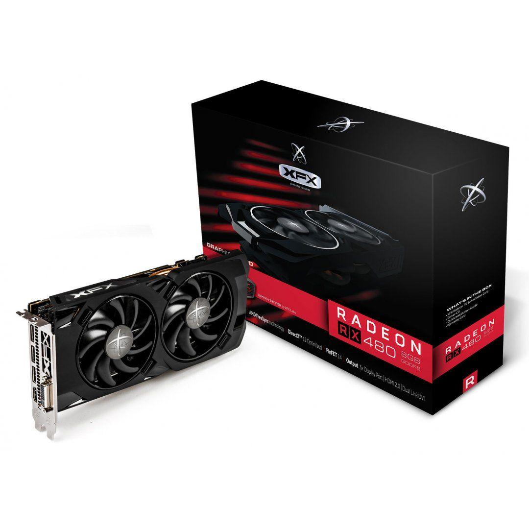 PLACA DE VÍDEO  RX 480 8GB  DDR5 XFX - RX-480P8LFB6