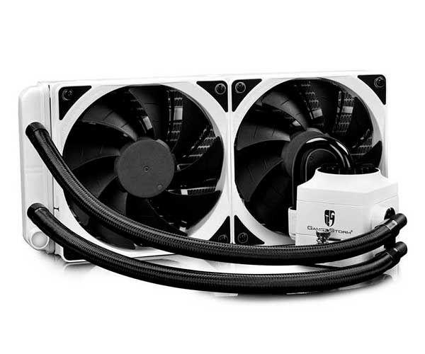 WATER COOLER CAPTAIN 240 EX WHITE RGB, DP-GS-H12L-CT240RGB-WH