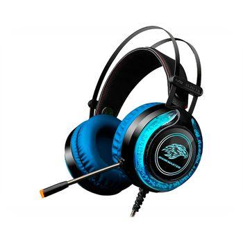 Fone Ouvido C/ Microfone K-Mex AR-S9 Preto/Azul RGB