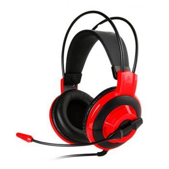 Fone Ouvido C/ Microfone MSI Gaming DS501 Preto/Vermelho