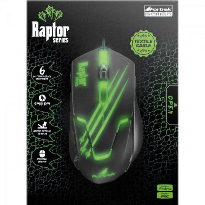 Mouse USB Fortrek Raptor OM-801 Gamer 2400DPI
