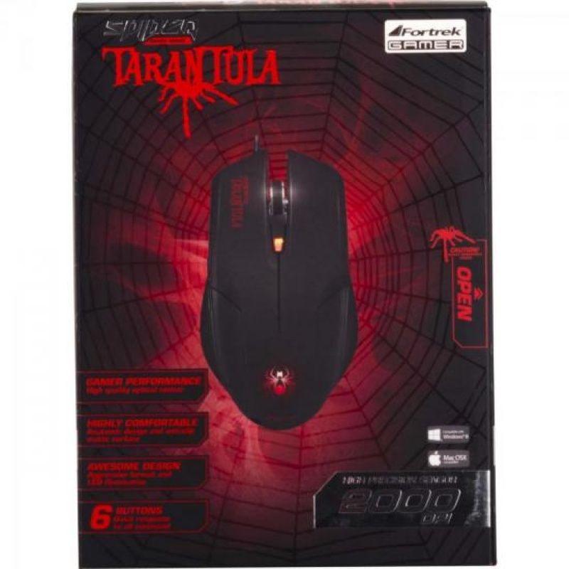 Mouse USB Fortrek Spider Tarantula OM-702 Gamer 2000DPI