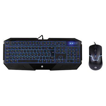 Teclado/Mouse USB HP GK1100 Gamer LED Azul