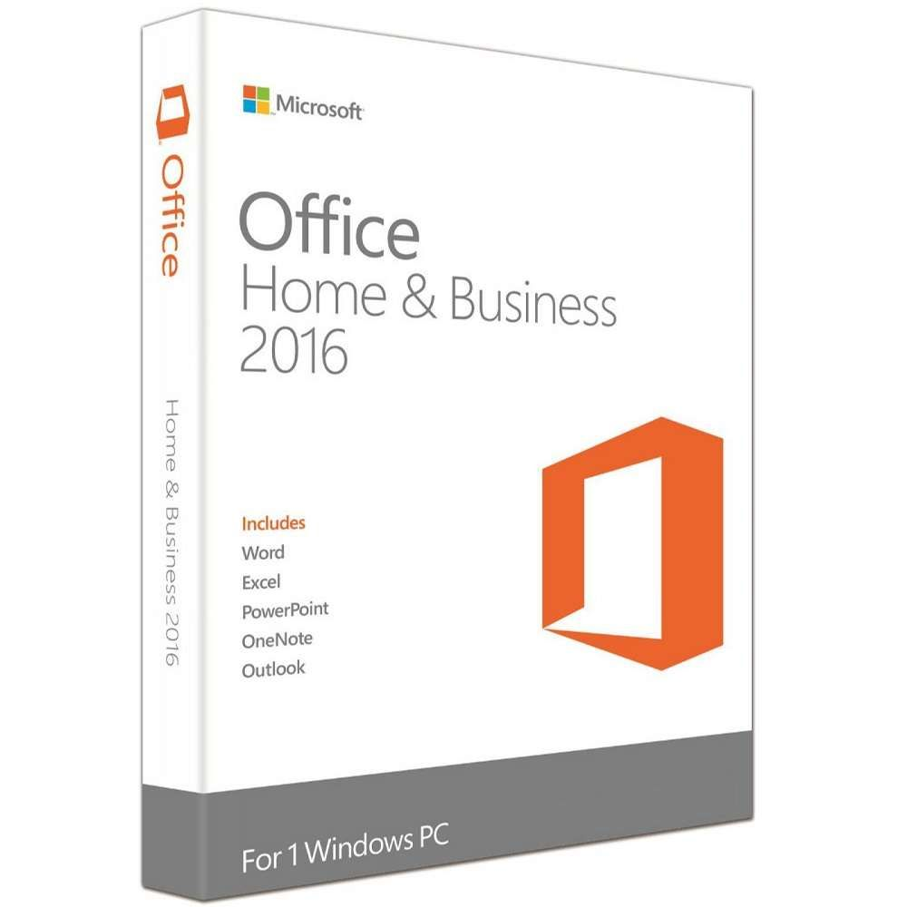 Microsoft Office Home & Business FPP 2016 32/64Bits Lic.