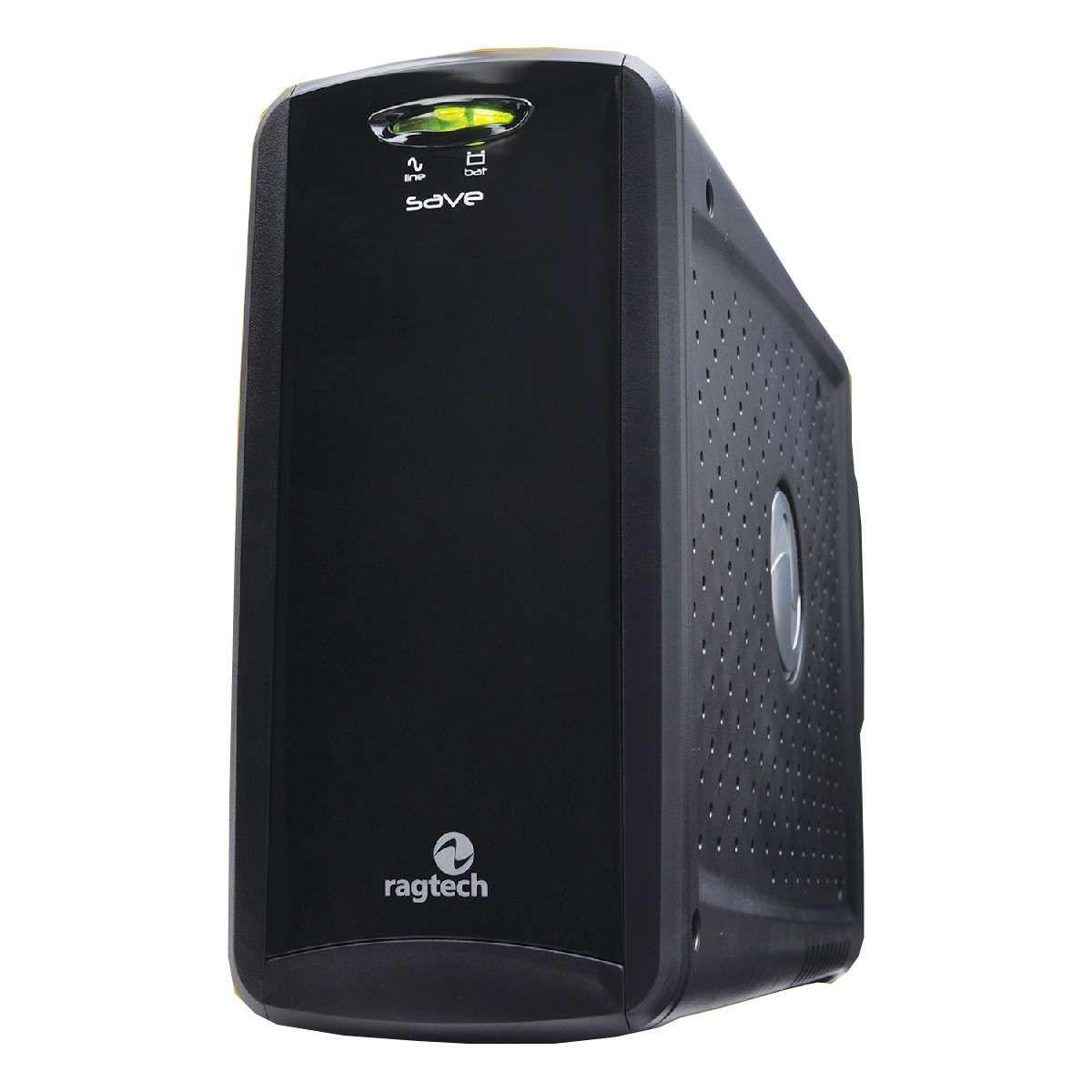 NoBreak Ragtech Save Home 600STD-TI Black- Semi Senoidal - 600VA Trivolt - 20NSH4125