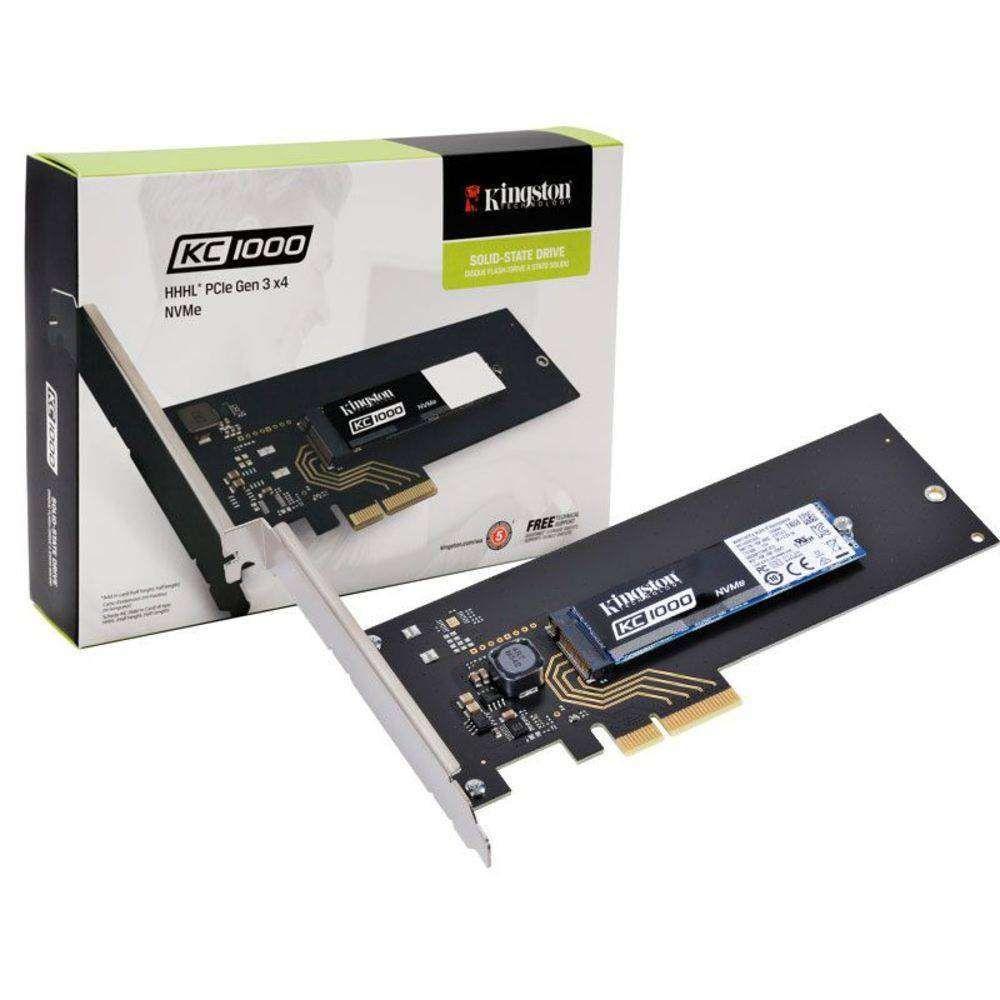 SSD Kingston SKC1000H/480g 480gb KC1000 M.2 HHHL Pcie Gen3x4 Nvme