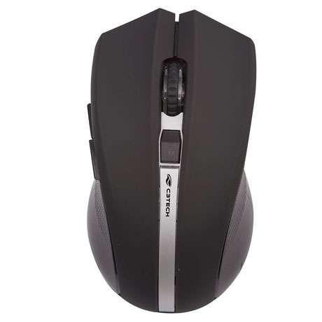 Mouse C3 Tech Sem Fio Preto - M-W108BK