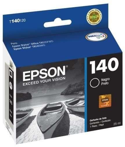 Cartucho de Tinta Epson T140120 25ml Preto