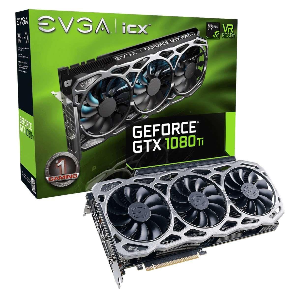 Placa de Video EVGA GeForce GTX 1080 Ti FTW3 Gaming 11GB GDDR5X-11G-P4-6696-KR