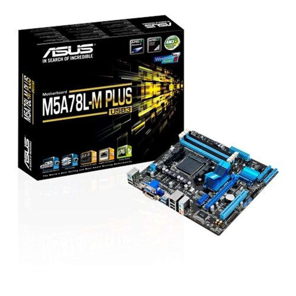Placa-Mãe Asus p/ AMD AM3+ mATX M5A78L-M Plus/USB3, 4x DDR3 HDMI/DVI/VGA