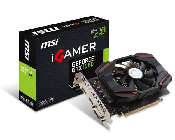 Placa de Vídeo MSI GeForce GTX 1060 6GB DDR5 192 Bits  - 912-V809-2463