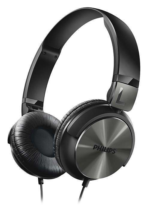 Headphone Philips Estilo DJ com Graves Nítidos - SHL3160BK/00 Preto