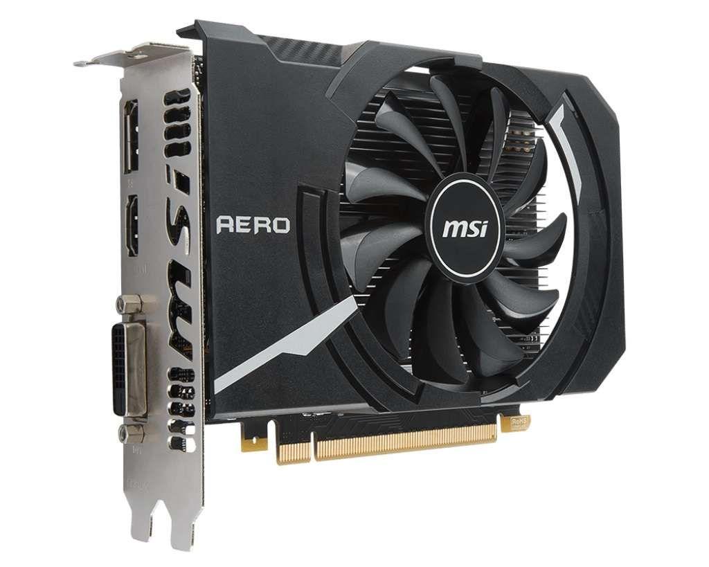 Placa de Vídeo Msi Geforce Aero Itx Oc Edition Gtx1050 2gb Gddr5 128 Bits