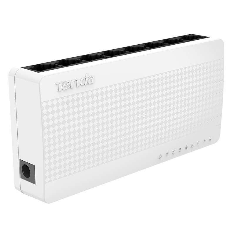 Switch Tenda 8 Portas Ethernet Desktop 10/100 Mbps - S108