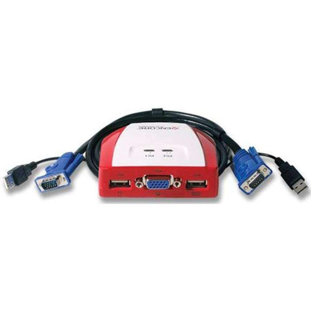 Switch KVM Encore com 2 Portas Usb 1 VGA - ENKVM-USB