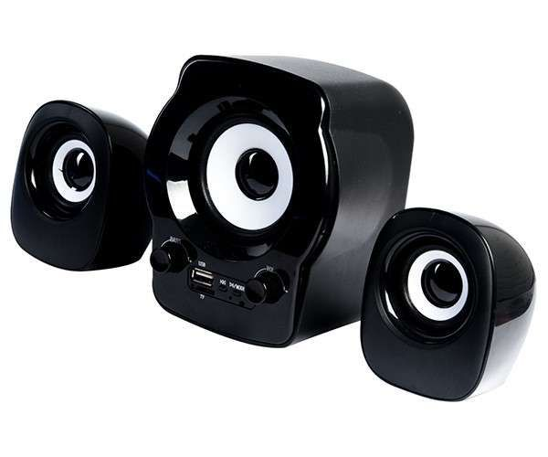 Caixa de Som Speaker 2.1 C3Tech SP-10 BK FM/SD/USB - 3W RMS