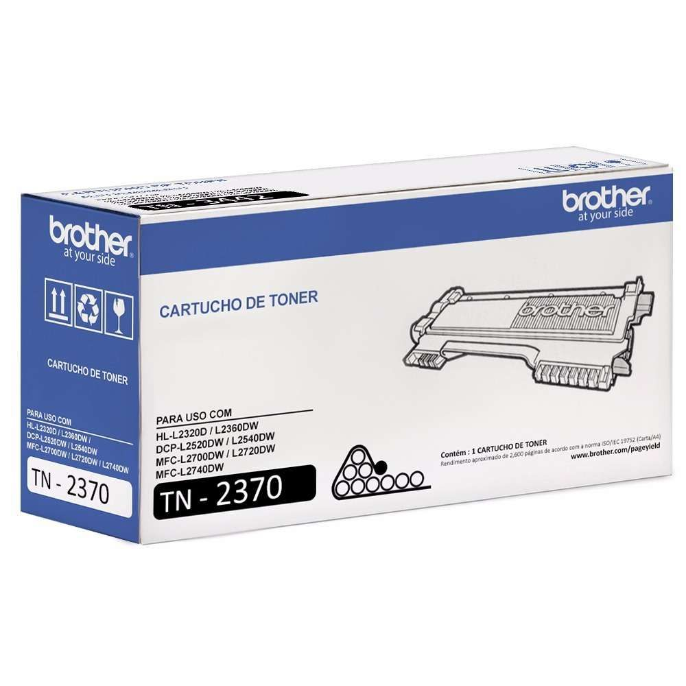 Toner Brother TN2370BR Preto 2,6K Original