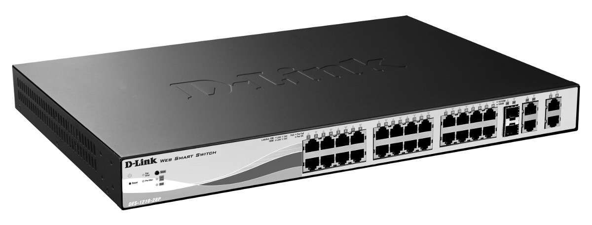 Switch D-link 24 Portas 10/100mpbs Gerenciavel - Des-1210-28
